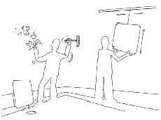 Как повесить картину без дырок в стене?
