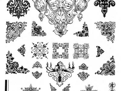 Орнамент и украшения рамы